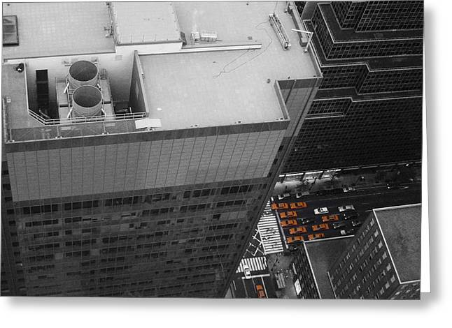 Cabs Greeting Cards - New York Cabs Greeting Card by Naxart Studio