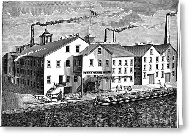 1876 Greeting Cards - New York: Chemical Works Greeting Card by Granger