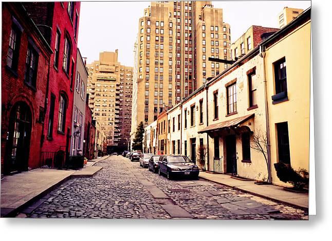Washington Mews Greeting Cards - New York City - Greenwich Village Greeting Card by Vivienne Gucwa