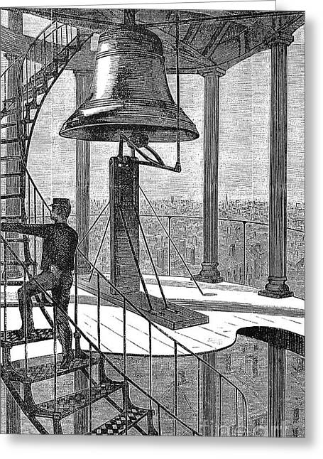 Winslow Homer Photographs Greeting Cards - New York City: Bell Tower Greeting Card by Granger