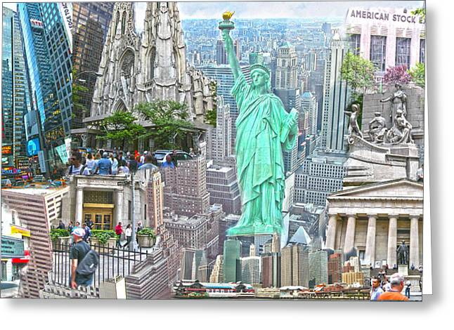 New York City Beyond Nine Eleven Greeting Card by Ted Lang