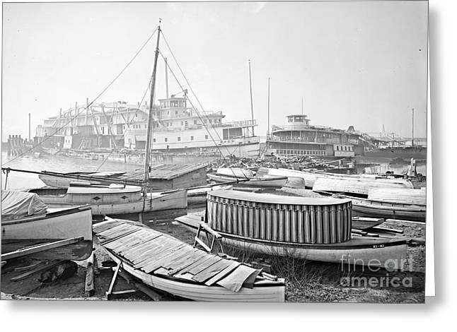New York City Boat Graveyard 1905 Greeting Card by Padre Art
