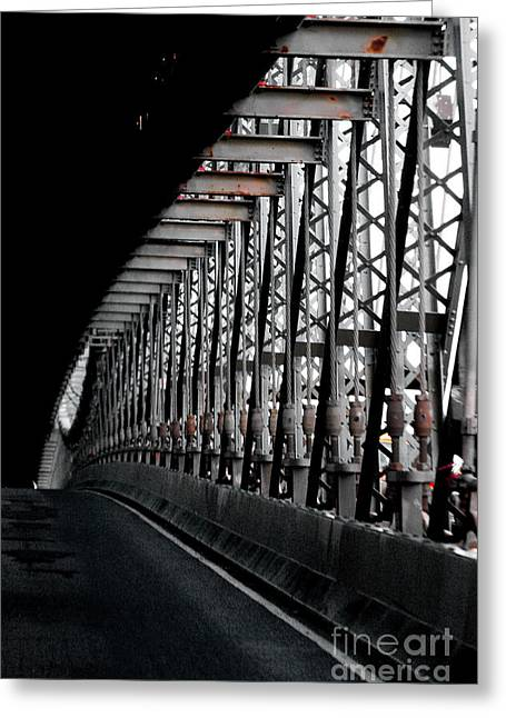 Brdige Greeting Cards - New York City Bridge Industrial Greeting Card by Anahi DeCanio