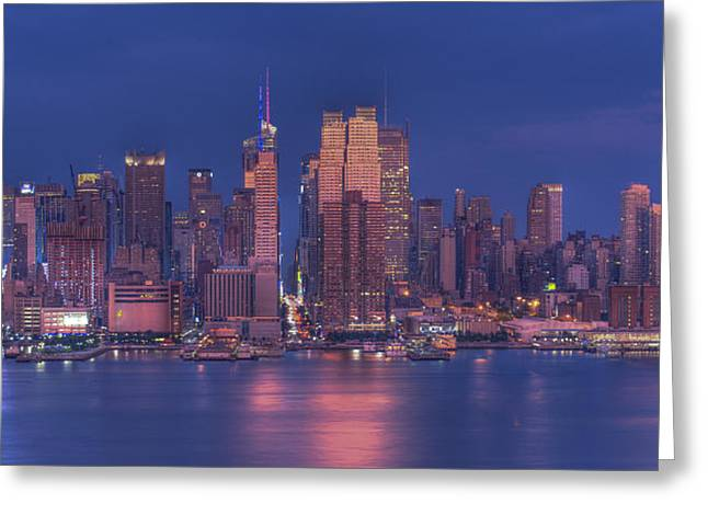 new york city Greeting Card by Kirit Prajapati