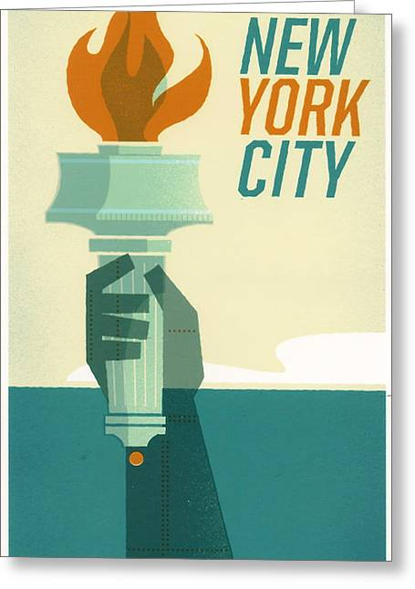 Center Greeting Cards - New York City Greeting Card by Georgia Fowler