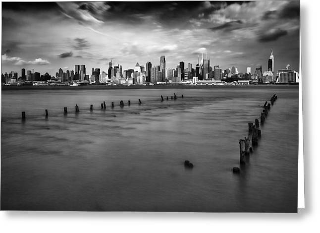 White River Greeting Cards - New York City Greeting Card by Rick Berk