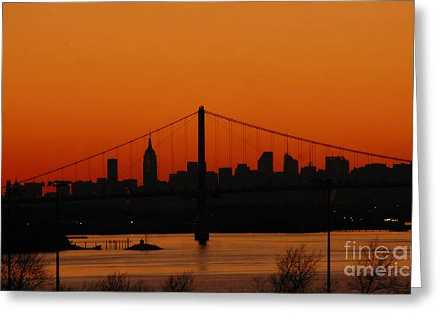 Gotham City Greeting Cards - New York City Skyline at Dusk Greeting Card by AdSpice Studios
