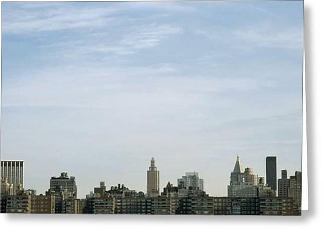 New York City Skyline Greeting Card by Axiom Photographic