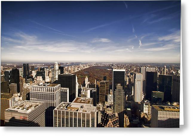Top Of The Rock Greeting Cards - New York City view Greeting Card by Sven Brogren