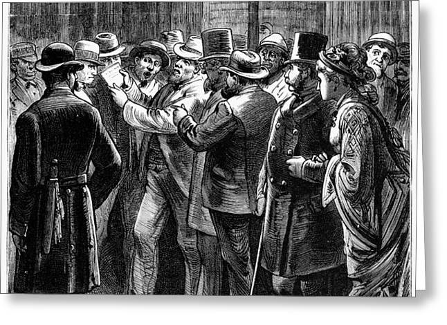 NEW YORK: ELECTION, 1876 Greeting Card by Granger
