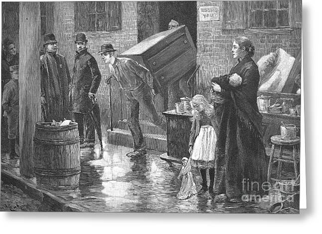 Eviction Greeting Cards - New York: Eviction, 1890 Greeting Card by Granger