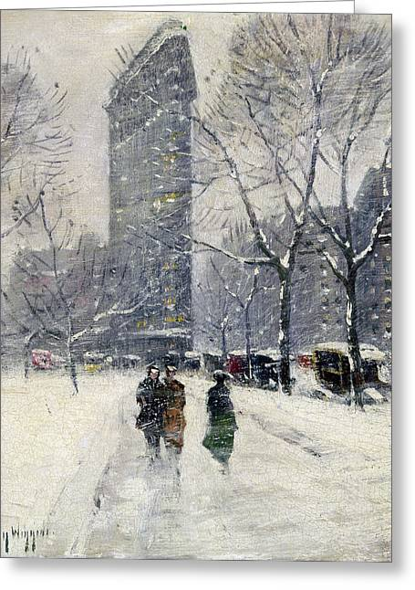 Fifth Avenue Greeting Cards - New York: Flatiron, 1919 Greeting Card by Granger