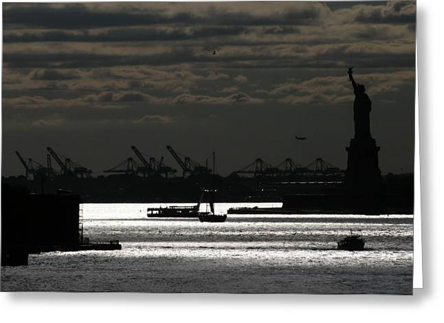 Governor Island Greeting Cards - New York Harbor Afternoon Greeting Card by Christopher Kirby