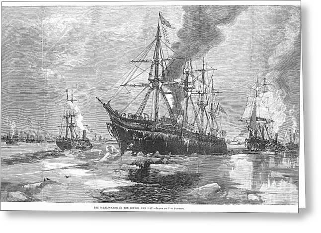 New York Harbor: Ice, 1881 Greeting Card by Granger