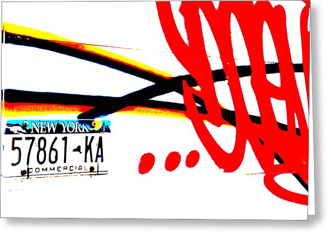 License Portrait Greeting Cards - New York License Plate Greeting Card by Funkpix Photo Hunter