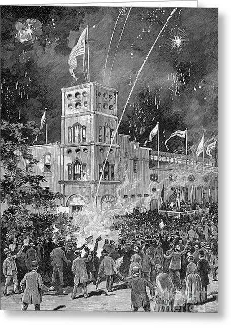 Political Rally Greeting Cards - New York: Madison Square Greeting Card by Granger