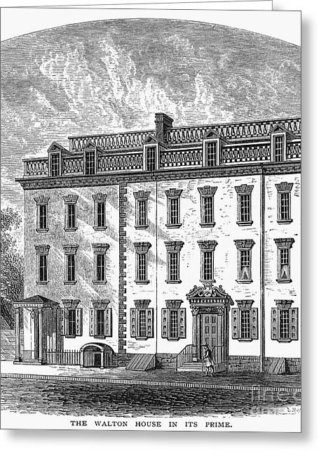 1757 Greeting Cards - New York: Mansion, 1757 Greeting Card by Granger