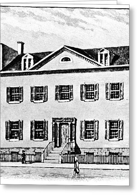 Hamilton-class Greeting Cards - New York: Mansion Greeting Card by Granger