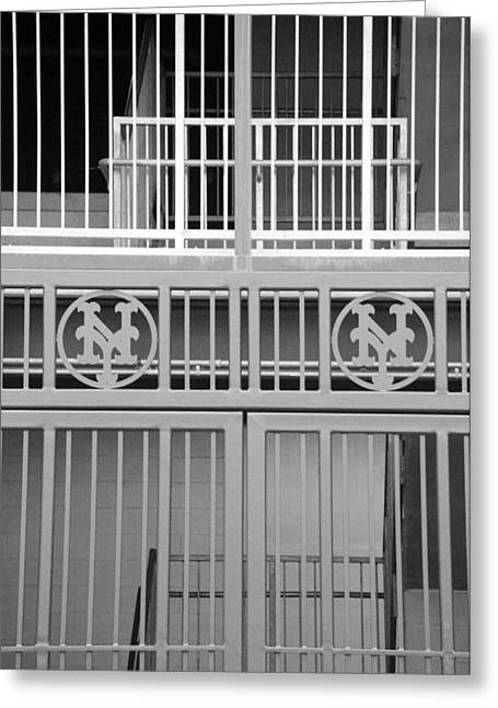Shea Stadium Digital Greeting Cards - New York Mets Jail Greeting Card by Rob Hans