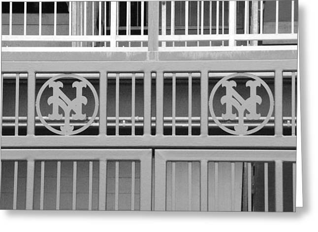 NEW YORK METS JAIL Greeting Card by ROB HANS