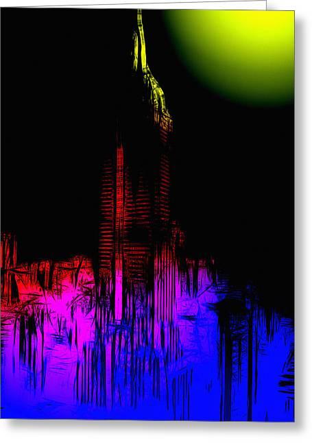 Moonshine Digital Greeting Cards - New York Nights Greeting Card by Stefan Kuhn