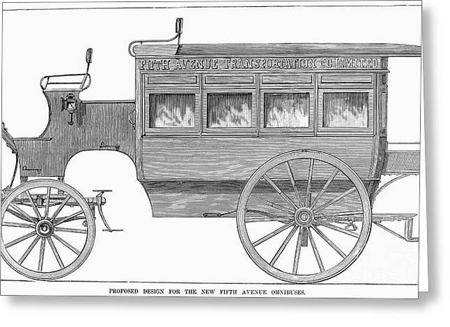 Omnibus Greeting Cards - New York: Omnibus, 1885 Greeting Card by Granger