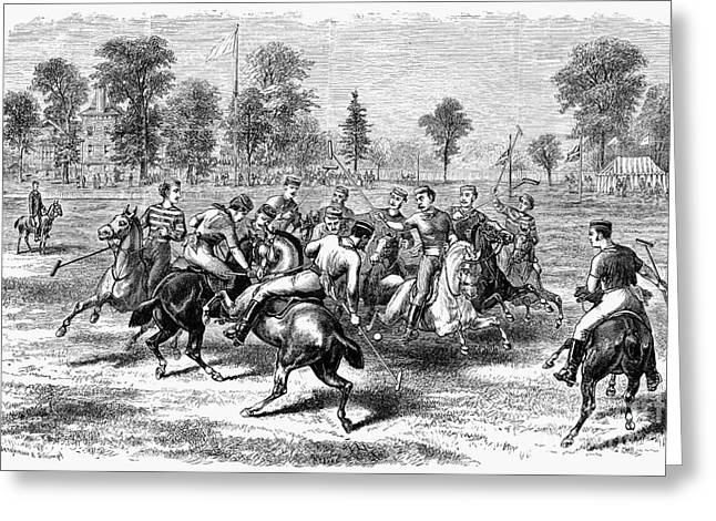 1876 Greeting Cards - New York: Polo Club, 1876 Greeting Card by Granger