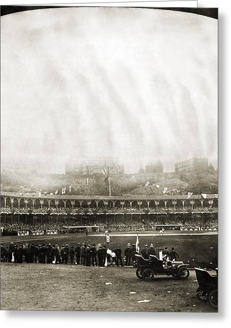 American Automobiles Greeting Cards - New York: Polo Grounds Greeting Card by Granger