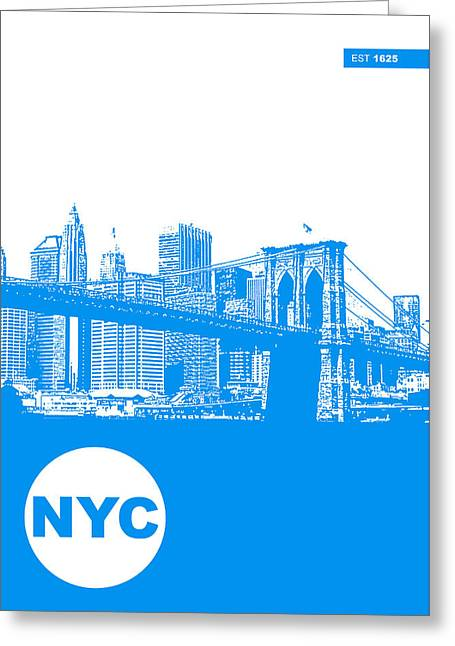 Old Digital Greeting Cards - New York Poster Greeting Card by Naxart Studio