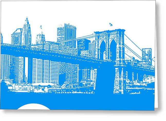 New York Poster Greeting Card by Naxart Studio