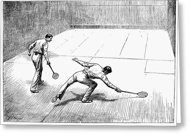 Racquet Photographs Greeting Cards - New York: Racket Club Greeting Card by Granger