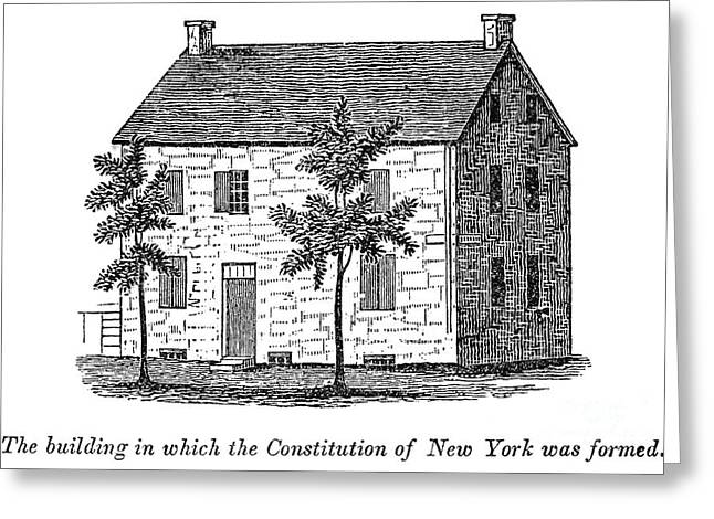 Constitutional Convention Greeting Cards - New York: Senate, 1777 Greeting Card by Granger