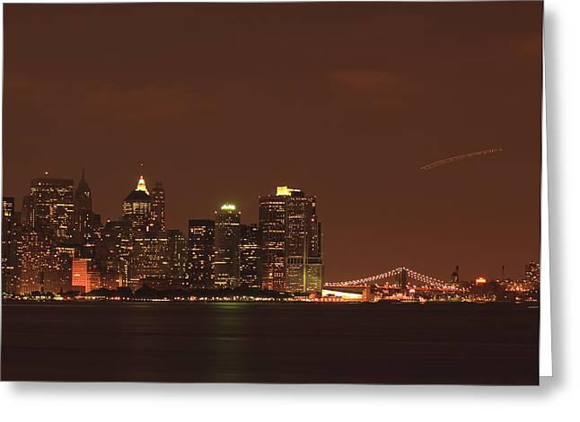 Kim Photographs Greeting Cards - New York Skyline Greeting Card by Kim Hojnacki