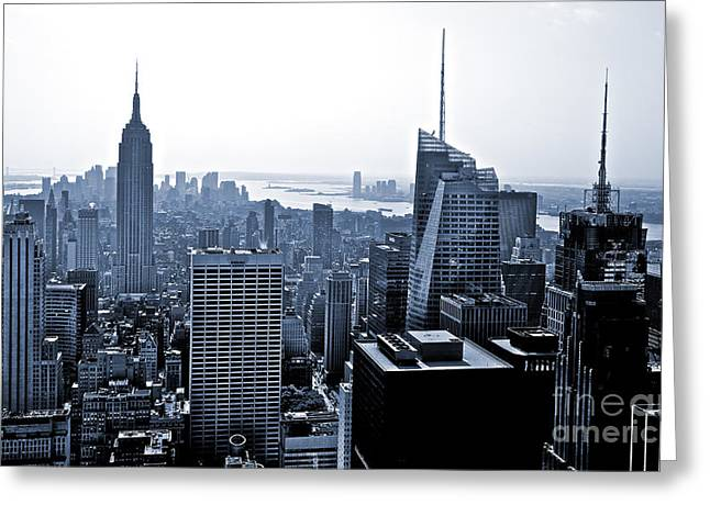 New York Skyline Greeting Card by Thomas Splietker
