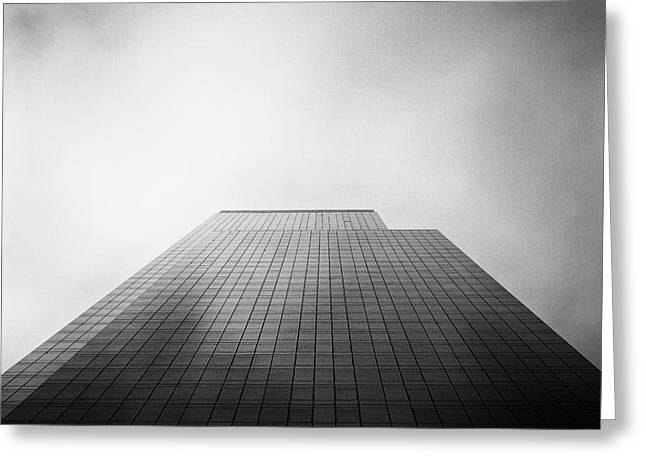Square Format Greeting Cards - New York Skyscraper Greeting Card by John Farnan