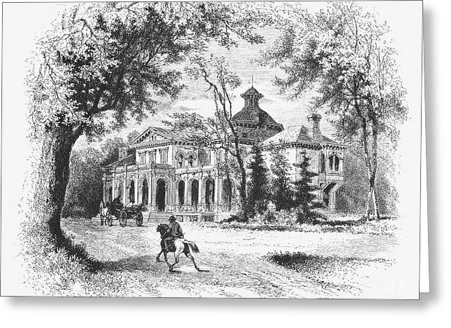 1876 Greeting Cards - New York State: House Greeting Card by Granger