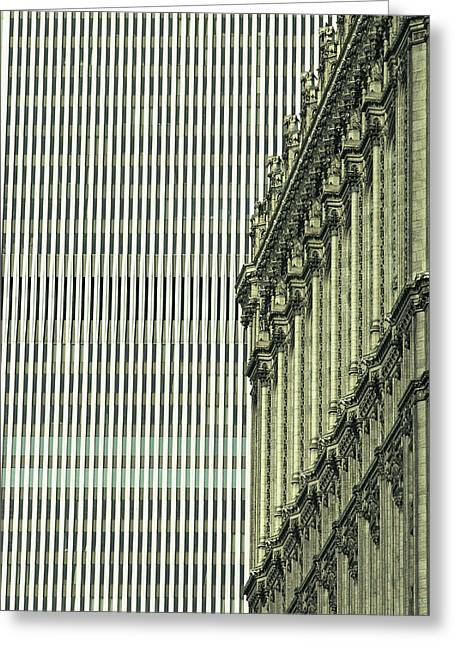 Old And New Greeting Cards - New York Stock Exchange Building Greeting Card by Skip Brown