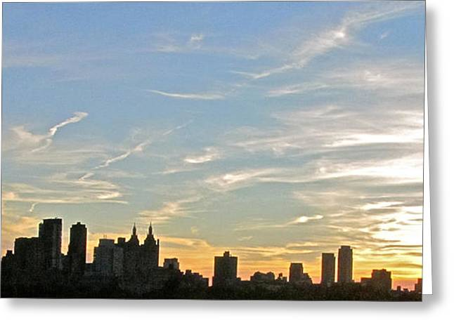 New York Sunset 2 Greeting Card by Randi Shenkman