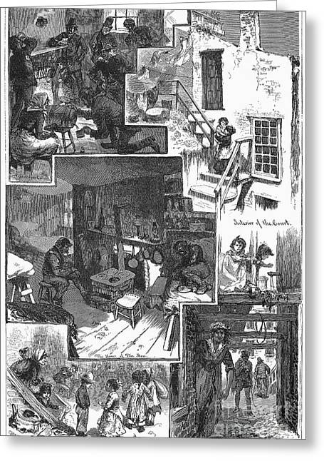 Chatham Greeting Cards - New York: Tenement, 1879 Greeting Card by Granger