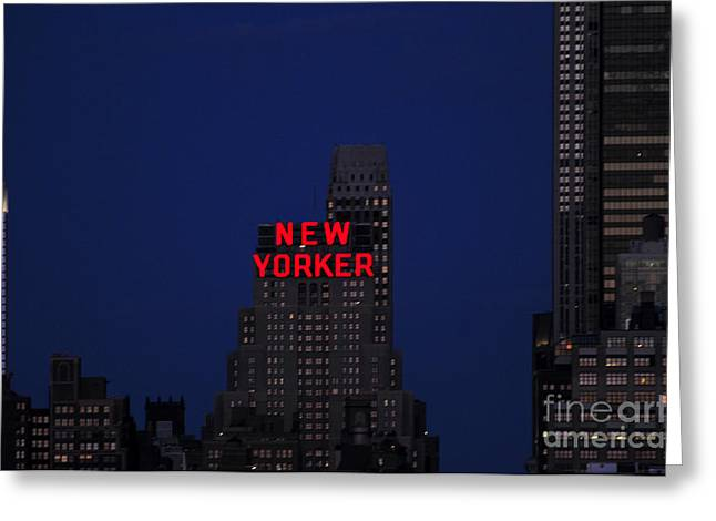 New Yorker Greeting Cards - New Yorker Hotel at dusk Greeting Card by Paul Ward