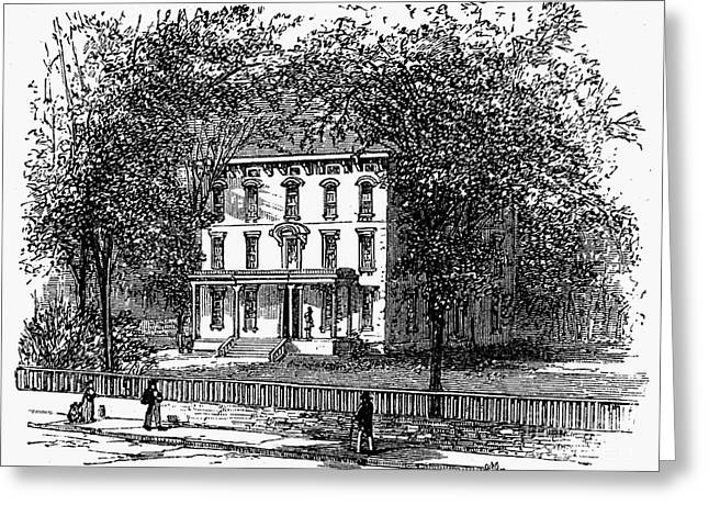 1876 Greeting Cards - Newark: Mansion, 1876 Greeting Card by Granger