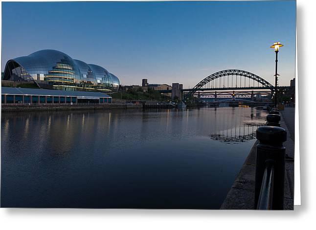 Elizabeth Edwards Greeting Cards - Newcastle and Gateshead quayside Greeting Card by Gary Finnigan