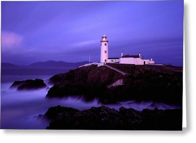 Foggy Day Greeting Cards - Newcastle, Co Down, Ireland Lighthouse Greeting Card by The Irish Image Collection