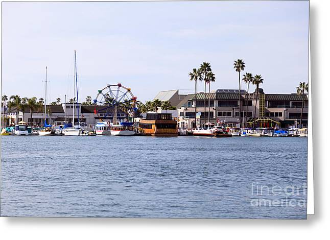 Newport Greeting Cards - Newport Beach Balboa Fun Zone Greeting Card by Paul Velgos