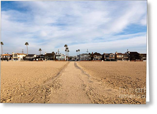 Balboa Greeting Cards - Newport Beach Balboa Peninsula Houses Greeting Card by Paul Velgos