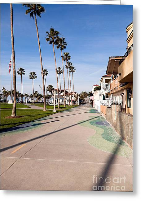 Balboa Greeting Cards - Newport Beach Boardwalk Greeting Card by Paul Velgos