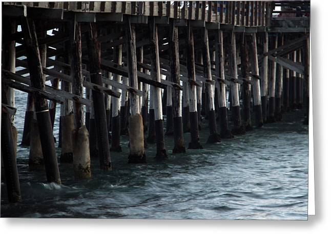 Ply Greeting Cards - Newport Beach Pier Close Up Greeting Card by Mariola Bitner