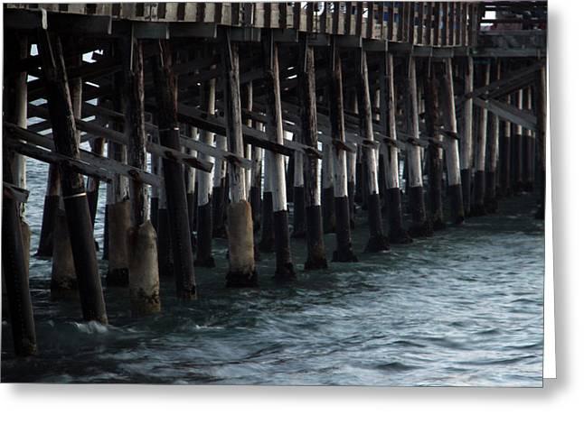 Newport Beach Pier Close Up Greeting Card by Mariola Bitner
