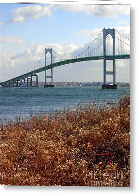 Mike Nellums Greeting Cards - Newport Bridge Newport Rhode Island Greeting Card by Mike Nellums