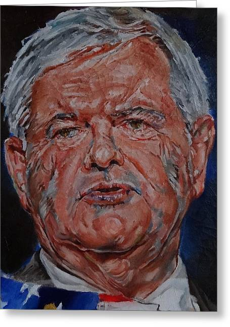 2012 Presidential Election Greeting Cards - Newt Gingrich Greeting Card by Alex Krasky